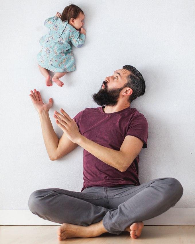 идея фото с младенцем 1