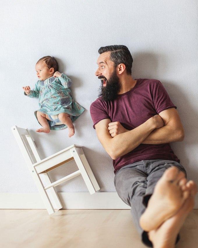 идея фото с младенцем 3