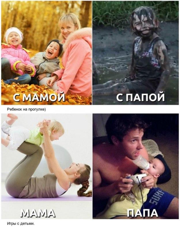 как мама воспитывает ребенка