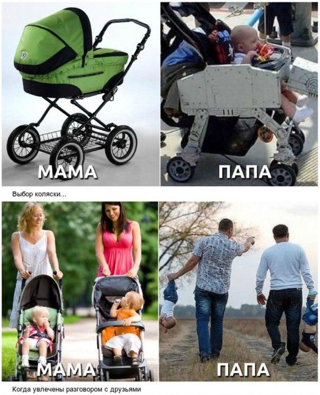 взгляд на воспитание детей мамы и папы