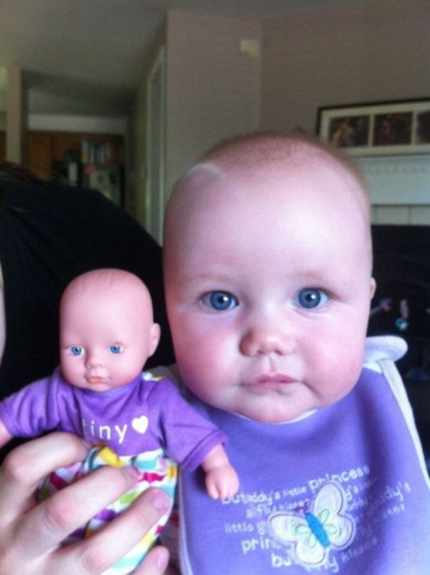 дети со своими куклами