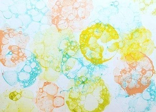 как рисовать пузырями