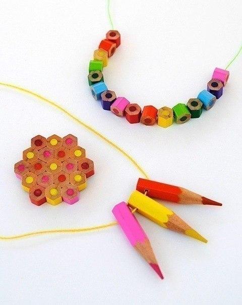 поделки из огрызков карандашей
