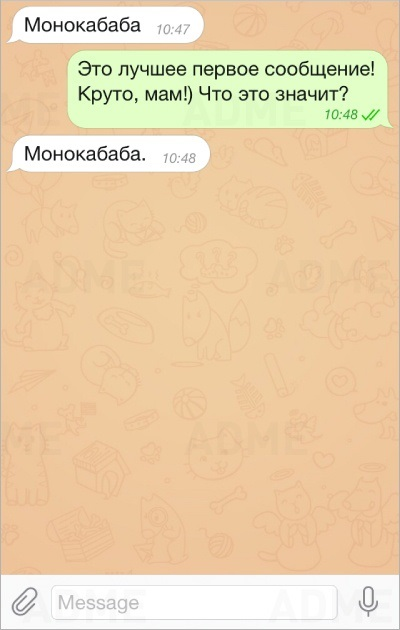 сообщение от мамы