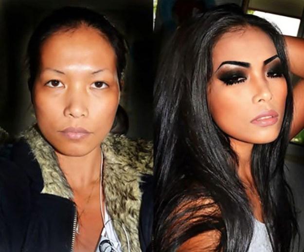 девушки после макияжа