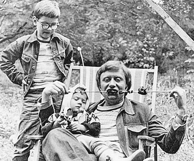 Андрей Миронов с дочерью Машей, 1976