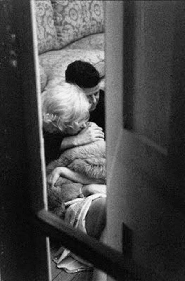 Мэрилин Монро и президент США Джон Кеннеди
