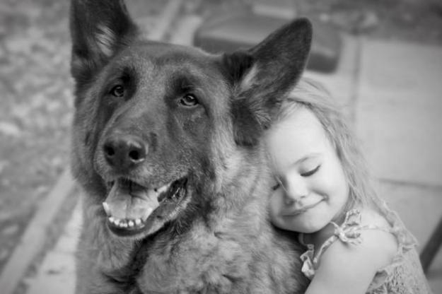 дети и собака