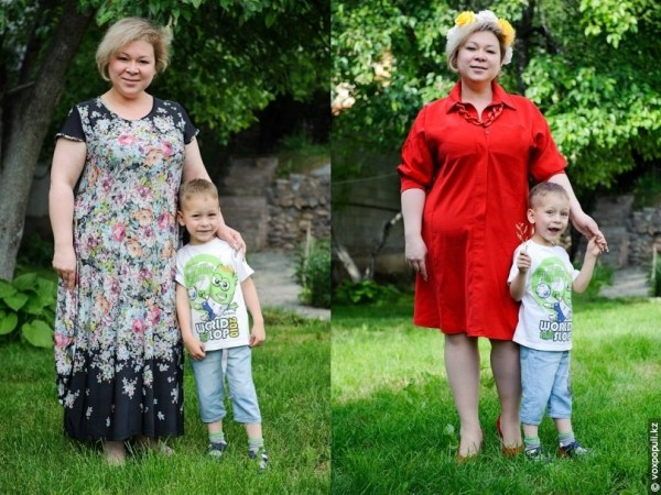 дети одевают мам