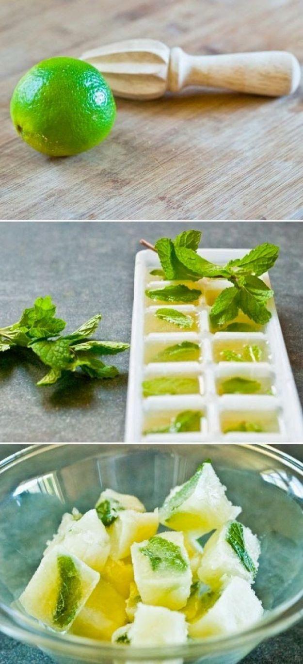 мохито в формах для льда
