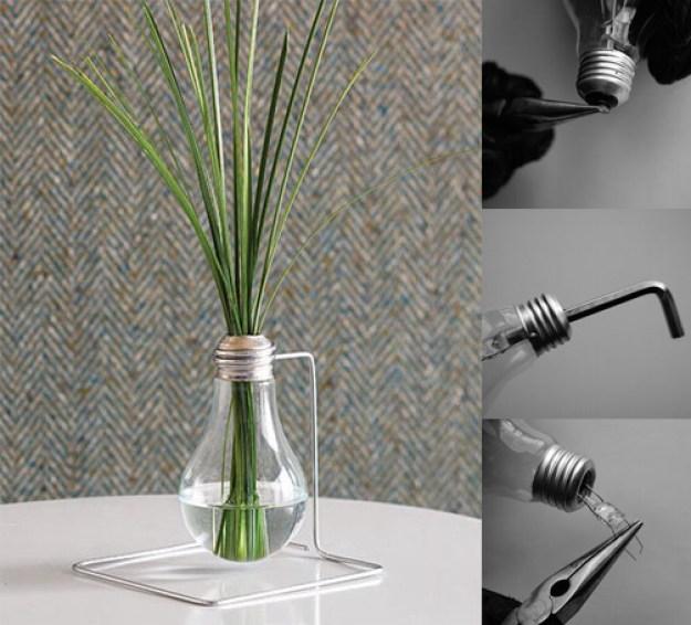ваза из лампочки