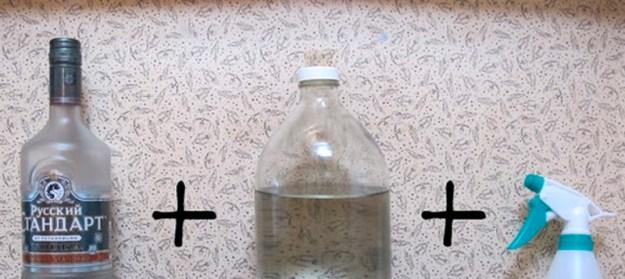 Чтобы вещи в шкафу не воняли посторонними запахами, опрысните их смесью водки с водой (12)