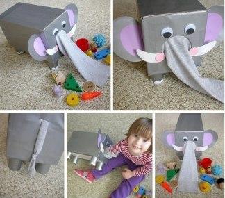 Забавный слоник для развития сенсорики и моторики своими руками
