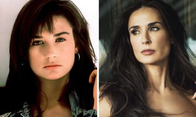 Деми Мур, 1996 и 2014