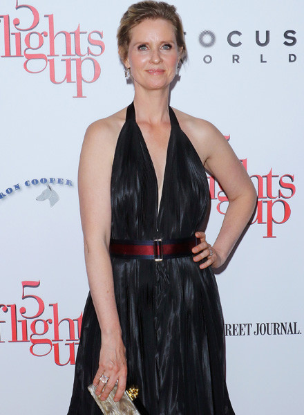 "NEW YORK, NY - APRIL 30: Actress Cynthia Nixon attends the ""5 Flights Up"" New York premiere at BAM Rose Cinemas on April 30, 2015 in the Brooklyn borough of New York City. (Photo by Jim Spellman/WireImage)"
