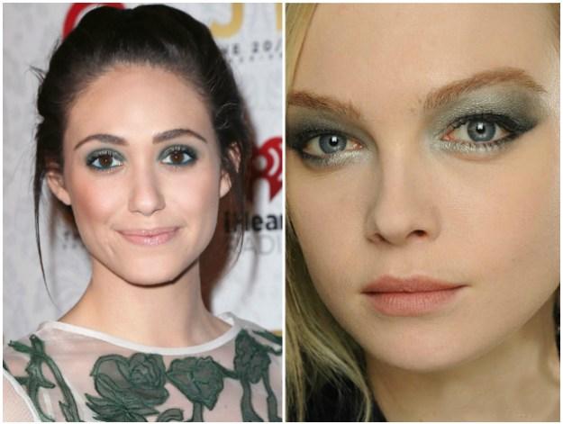 Если веко нависшее или кожа вокруг глаз тонкая - стоит забыть о перламутровых тенях!