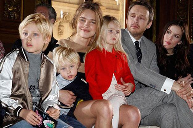 Наталья Водянова с семьей