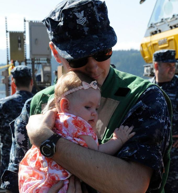 встреча отца с дочкой