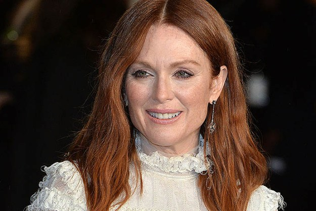 LONDON, ENGLAND - NOVEMBER 05: Julianne Moore attends The Hunger Games: Mockingjay Part 2 - UK Premiere at Odeon Leicester Square on November 5, 2015 in London, England. (Photo by Anthony Harvey/Getty Images)