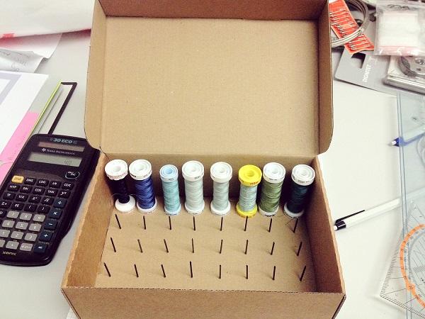 Коробка - идеальное место хранения для ниток и иголок2