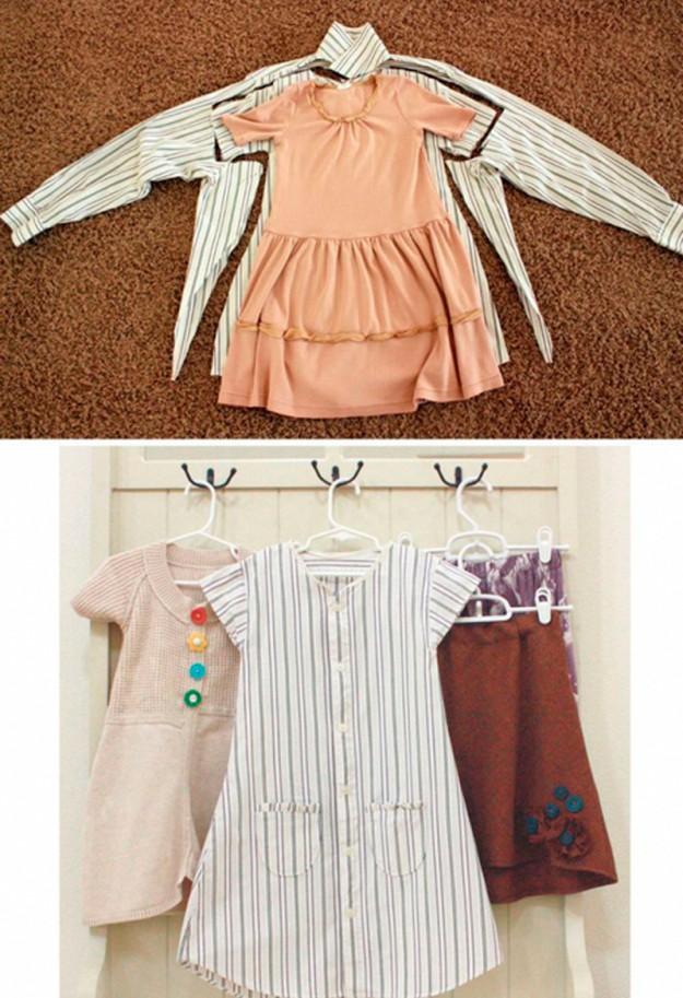 Платье из папиной рубашки - и мило, и экономно