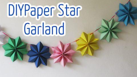Гирлянда из красивых бумажных звезд своими руками. Очень просто