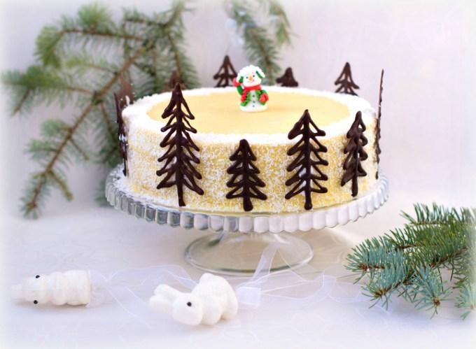 торт наполеон на рождество