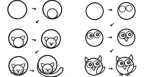 Рисуем из кругов. Идеи и схемы