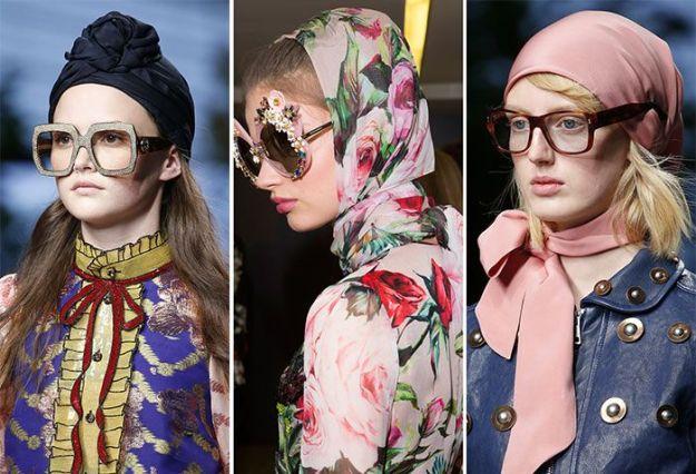 Атласные и шифоновые ткани, а также платки с яркими принтами - беспроигрышный вариант этой весны3