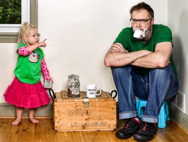 Дэйв Энгледоу с дочкой