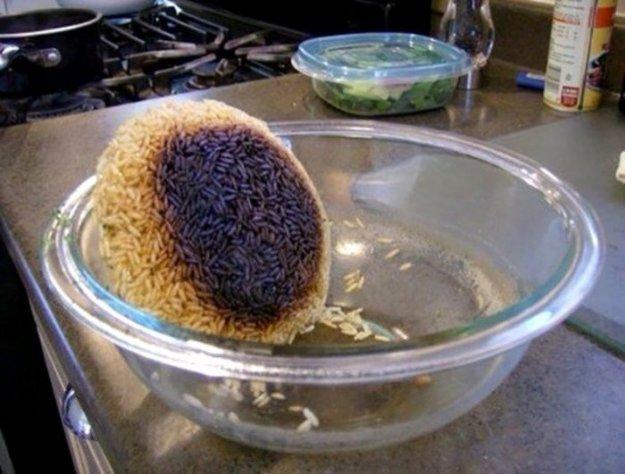 Рис немного переварился