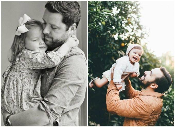 папа с доченькой