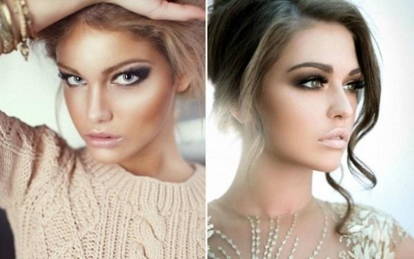 Чтобы в макияже выделить именно глаза, используйте бежевые или телесные помады