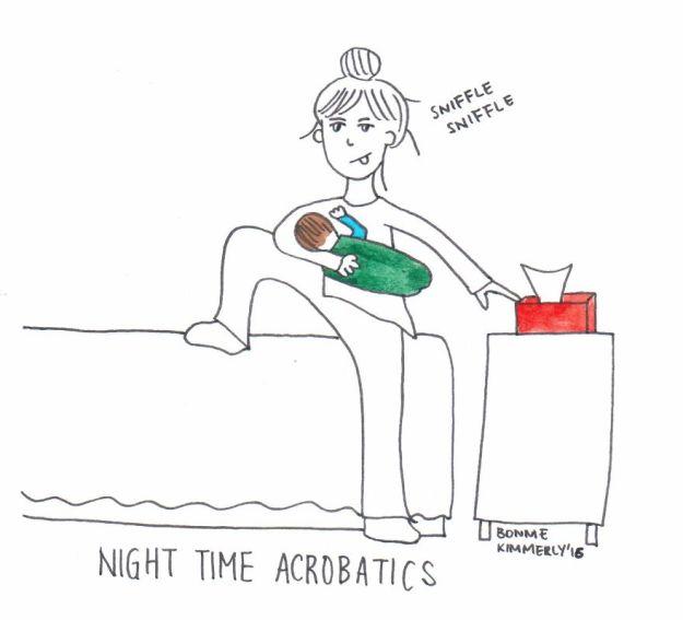 Время ночной растяжки и акробатики...