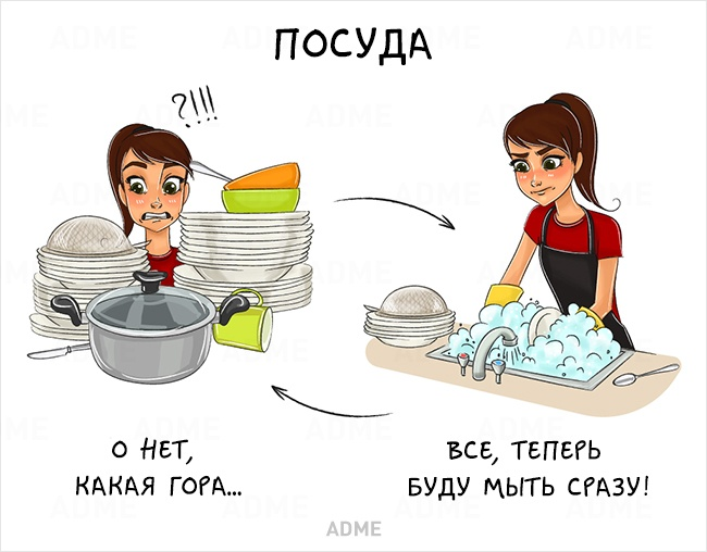 комикс про посуду