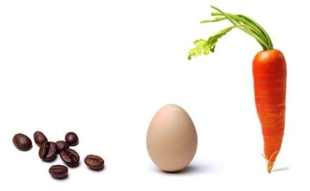 морковь, яйцо, кофе притча