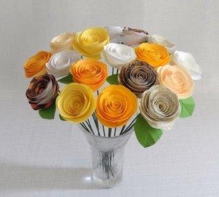 Обворожительные розы из бумаги своими руками
