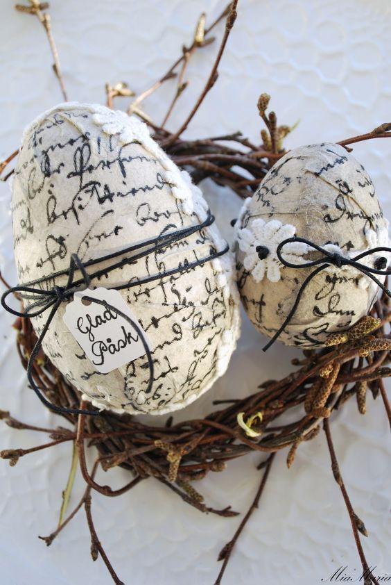 Яйца в технике декупаж