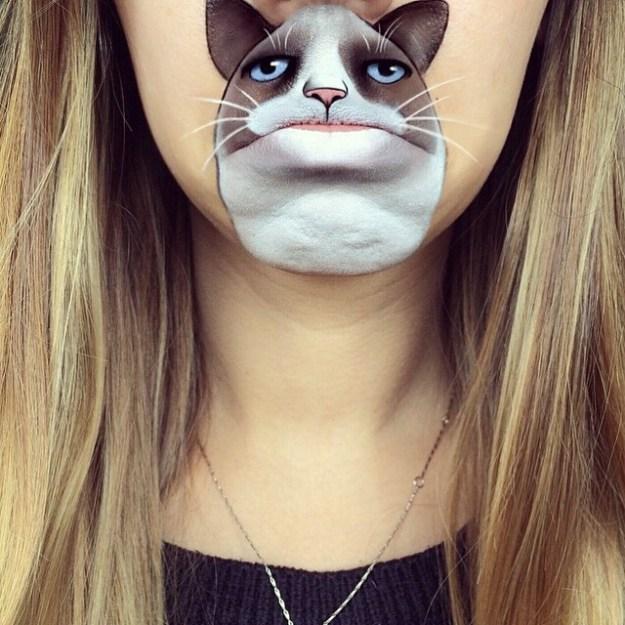 мультики на губах