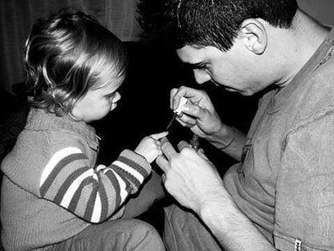 папа и дочка