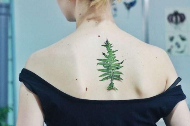 татуировки с частью природы