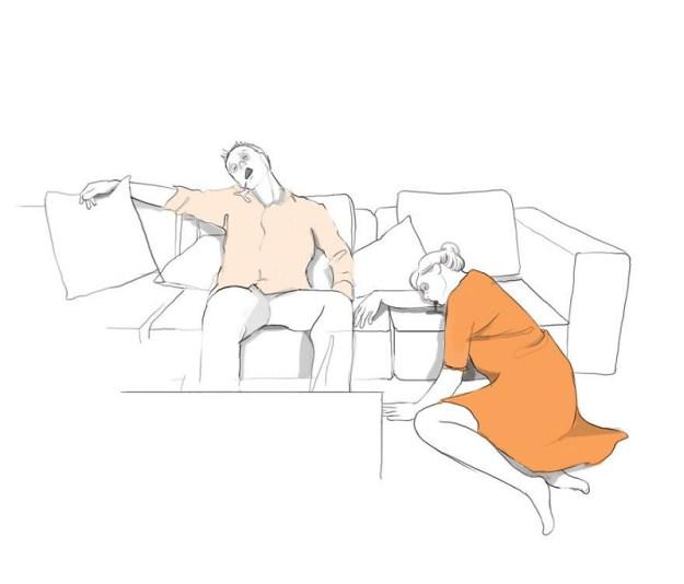 Когда малыш засыпает, можно провести приятную ночь с мужем
