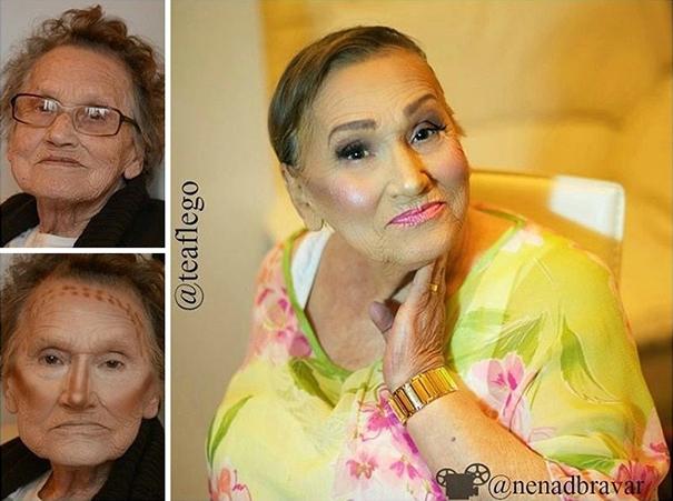 бабушкин макияж