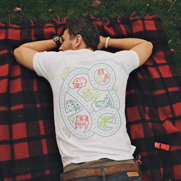 футболки с игровым полем