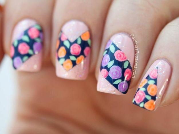 летние ногтики