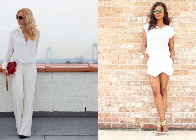 Сейчас рчень модны белые комбинезоны