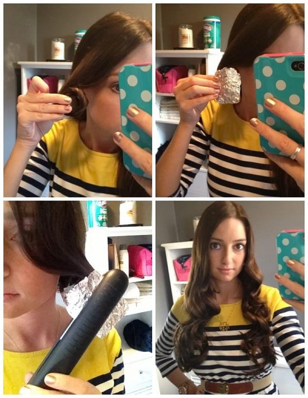 Волосы можно не только выравнивать утюжком, но и накручивать им красивые локоны3