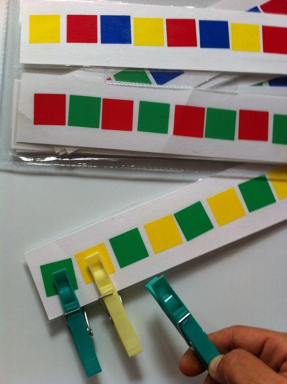 сортировка: цвет и прищепки