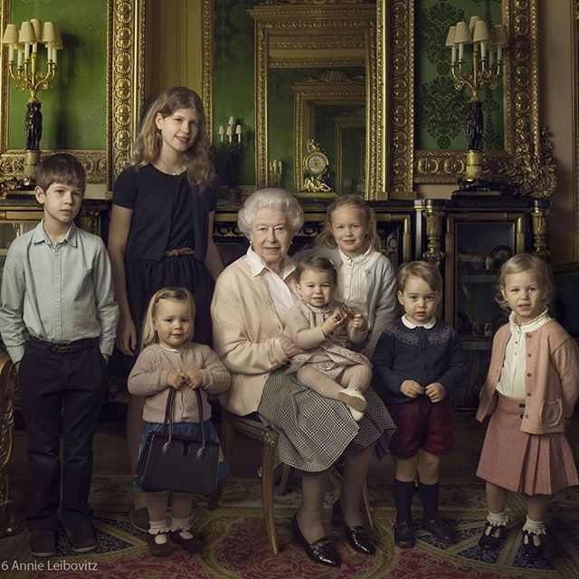 елизавета II и ее внуки и правнуки