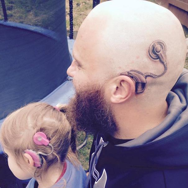 татуировка в поддержку дочери